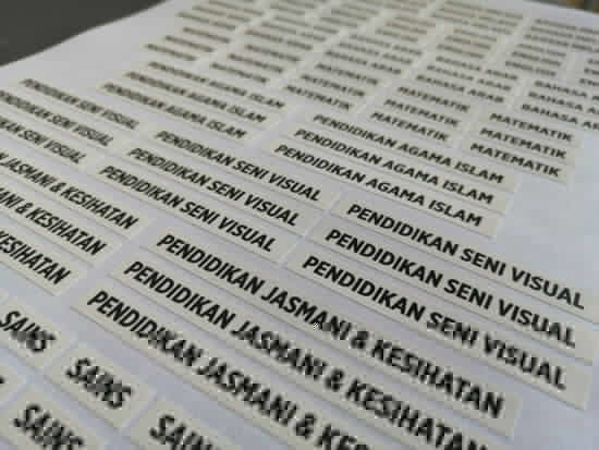 Picture of Cetak Sticker Name | Label Harian